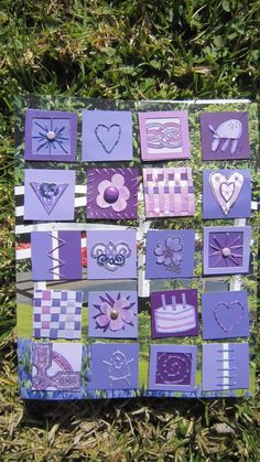 Purple inchies from Craftybutterfly - personal swap