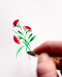 Watercolor Confections®- The Classics Watercolor Flowers Tutorial, Easy Watercolor, Watercolour Tutorials, Watercolour Painting, Beginning Watercolor Tutorials, Simple Watercolor Flowers, Flower Drawing Tutorials, Watercolor Hummingbird, Rock Painting