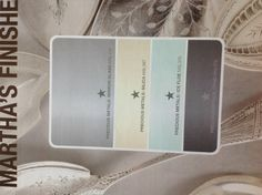 Martha Stewart. Color scheme. Nice colors for a master room. Or any room!