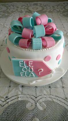 Bolo-Decorado-cha-revelacao Bolo Fake, Gender Reveal, Babyshower, Birthday Cake, Cakes, Boutique, Wallpaper, Party, Desserts