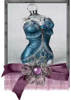 T: Lady perfume bottle Blue Perfume, Perfume And Cologne, Beautiful Perfume, Perfume Atomizer, Antique Perfume Bottles, Vintage Perfume Bottles, First Perfume, Vases, Vanity