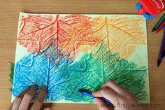 Craft - leaf rubbings