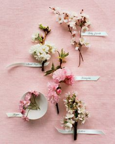 could incorporate some cherry blossoms for the blush pink