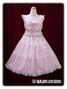 Baby, the stars shine bright Shirring baby doll jumper skirt