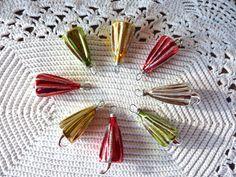 8 Mercury Glass  Umbrella Ornaments by BonniesVintageAttic on Etsy