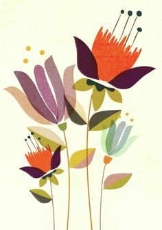 Leading Illustration & Publishing Agency based in London, New York & Marbella. Motif Floral, Art Floral, Illustration Blume, Mid Century Art, Arte Popular, Abstract Flowers, Whimsical Art, Botanical Art, Doodle Art