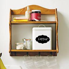 Vintage-Inspired Hanging Shelf With Hooks | Avon