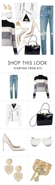 """Outfit of the Day"" by dressedbyrose ❤ liked on Polyvore featuring Levi's, Equipment, Yves Saint Laurent, Valentino, Victoria Beckham, Miss Selfridge, ootd and polyvoreeditorial"