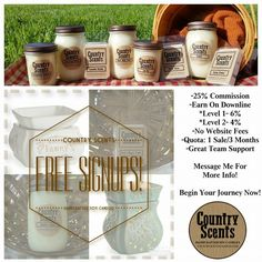 Country Scents Candles Is A Direct S Company Offering Free Signup Soy Based Amp
