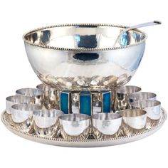 Sterling Silver Punch Bowl Set