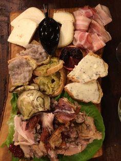 La Prosciutteria - Roma, Italy. $15 euro platter with porchetta