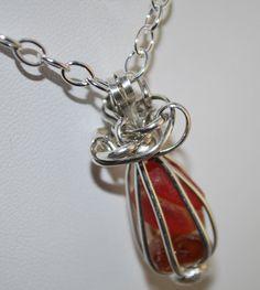 Sea Glass Pendant Red Sea Glass Pendant Sterling by kathyarterburn, $65.00