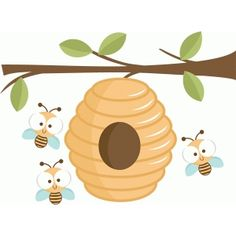 Beehive SVG cutting file beehive svg cut file beehive clipart cute svg cut files for cricut Kids Bulletin Boards, French Images, Bee Clipart, Bee Images, Bee Party, Winnie, Bee Theme, Digi Stamps, Drawing For Kids