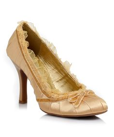 Look at this Gold Doll Pump on #zulily today!