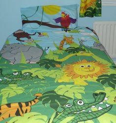 Boys Toddler Duvet Cover and Pillowcase - Cotbed Junior Bedding Sets Toddler Duvet, Toddler Boys, Bedding Sets, Duvet Covers, Pillow Cases, Bedroom, Ebay, Little Boys, Bed Linens