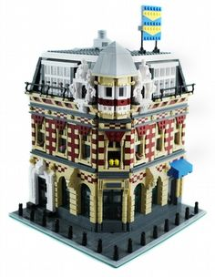 Corner Shop & Apartments - Amsterdam - Modular Building: A LEGO® creation by Brian Lyles : MOCpages.com