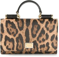 Dolce & Gabbana small 'Miss Sicily' leopard print shoulder bag
