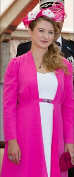 Hereditary Grand Duchess Stephanie during the National Day 2014 in Luxembourg.