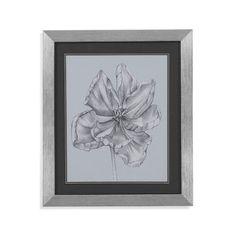 Bassett Mirror Silvery Blue Tulips IV Framed Painting Print