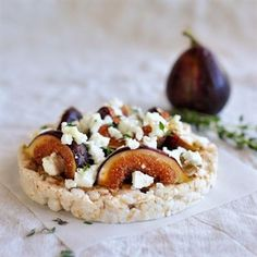 Pimp your rice cake: fig fetta tahini and thyme rice cake & lots of other great ideas