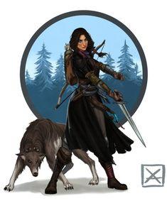 Pana the Warden Ranger by A.E. Coggon