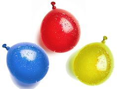 """Amazon.com: Cool & Fun {100 Count Pack} of 3"""" - 6"""" Inch """"Standard Size"""" Water Balloon Bomb Grenades Made of Latex Rubber w/ Bright Basic Mixed Variety Design {3 Random} w/ Screw on Hose Attachment: Toys & Games"""
