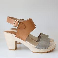 Color-block Miranda sandal