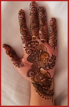 How To Do Simple Mehndi Designs For Hands➕More Pins Like This At FOSTERGINGER @ Pinterest ✖️