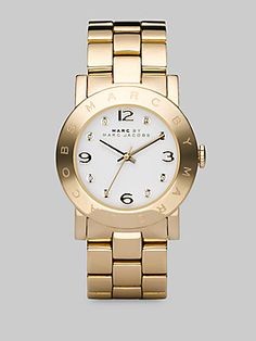 Marc by Marc Jacobs Amy Link Bracelet Watch/Gold