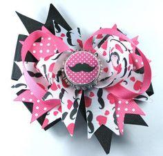 Bottle Cap Hair Bow Clip - Hebilla para el cabello con moño y tapa de gaseosa