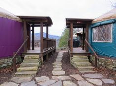 #Glamping NC: Staying at the Sky Ridge Yurts Near Bryson City - #relax or find #adventure, both!  (by Ava Meena)