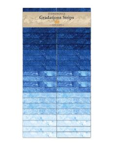 "Stonehenge Gradations ~Indigo~ 40- 2.5"" Strips Cotton Fabric by Northcott~Fast Shipping JR263"