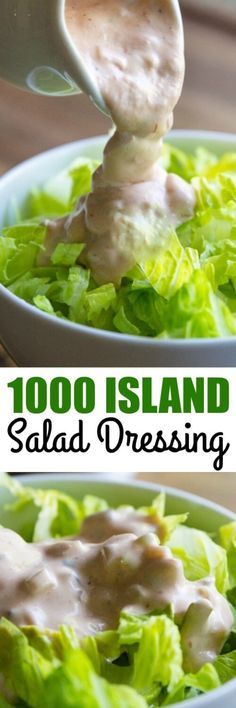 This Homemade Thousand Island Dressing recipe comes together in 5 minutes with just 5 ingredients! Its thick, delicious, and perfect on your next salad. Salad Dressing Recipes, Salad Recipes, New Recipes, Cooking Recipes, Favorite Recipes, Healthy Recipes, Recipies, Homemade Seasonings, Homemade Sauce