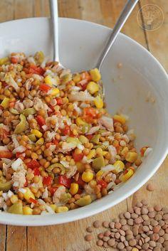 Cocinando entre Olivos: Ensalada de lentejas de verano. Receta paso a paso.