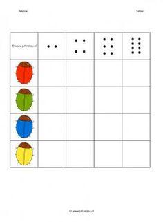 Deze matrix en nog veel meer in de categorie rekenen kun je downloaden op de website van Juf Milou. Math Subtraction, Kids Education, Coding, Shapes, Pdf, Speech Language Therapy, Ladybugs, Preschools, Preschool