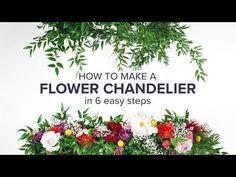 2018 Wedding Trends: DIY Flower Chandelier. How to Make a Floral Chandelier with PRO Flowers & The DIY Wedding Planner. Anastasia Stevenson #2018wedding #weddingtrends #diywedding #flowerchandelier #flowertutorial