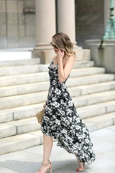 We've been experiencing a pretty intense heat wave over the past week - it's been so hot and humid that I've felt like we were back living in the South again!  So I've been wearing the lightest pieces possible and this ruffled floral maxi was the perfect choice for a weekend date night.  We just booked a family trip to Mexico for next February & it will definitely be coming with me.  Unfortunately, this dress sold out just before I had the chance to share it with you here (hate when that…