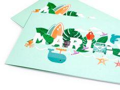 Wij ontwierpen dit geboortekaartje, bewegend geboortekaartje en postzegel. Hetthema is 'een zee aan liefde',de bijpassende illustraties laten de roots van Marley zien, die liggen aande kust van Curaçao en Nederland. In de details staan wensen en elementen uit de omgeving van de ouders, zoals hun hondje en katten. Maar ook babyvoetjes op een surfplank zoals…
