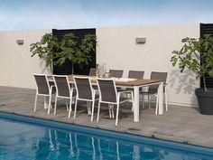 MILAN GartensetD Hochwertige Gartenmöbel aus Alu & Teakholz , 9-tlg. Mit der hochwertigen 9-teiligen Garten Sitzgruppe Milan von Exotan sorgen Sie auf Ihrer Terrasse für ein traumhaftes Wohlfühl-Flair. Milan ist der ideale...
