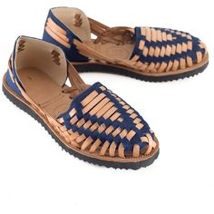 857bc11c2b06 Women s Navy Woven Leather Huarache Sandals - Ix Style - Water For Children
