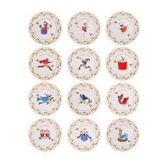 Salad Plates, Set of 12 - Mikasa Twelve Days Of Christmas... #beso