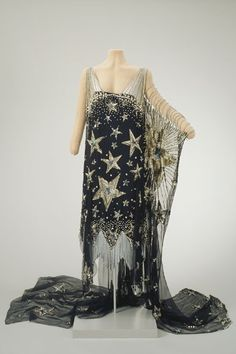 """Dresses Pagan Wicca Witch:  """"Starry Night"""" fancy dress, 1926, Hillwood Estate.  For inspiration."""