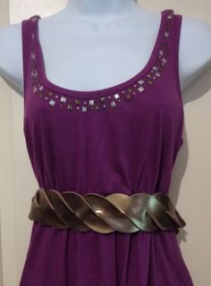 Vintage Gold Ladies Belt by TraderTrudys on Etsy