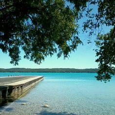 Torch Lake...I have a picture of my toes in the water standing under this very tree!
