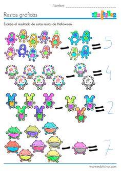 Descarga esta ficha sin hacer aquí: http://www.edufichas.com/actividades/matematicas/restas/ficha-de-halloween-con-dibujos-de-restas/