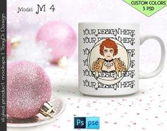 Mug Mockup M04BG2 White Coffee Mug Closeup by TanyDiDesignStudio