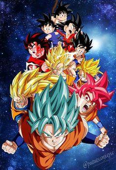 Goku e a sua evolução