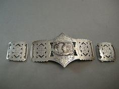 Art Nouveau Sterling Silver Buckle/Sash Buckle by cerritorose, $175.00