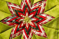 Christmas pot holder in green and red.  #Christmas #potholder #interior #decor #DIY #handmade #quilt