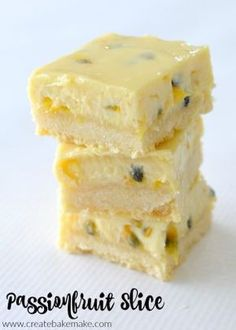 Easy Passionfruit Slice Recipe